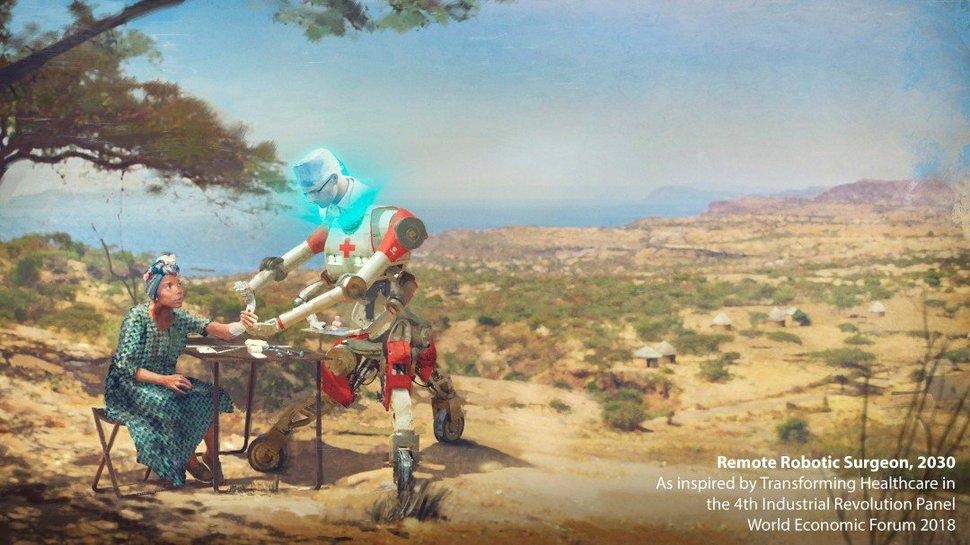 2030 미래직업 '원격로봇 의사'.