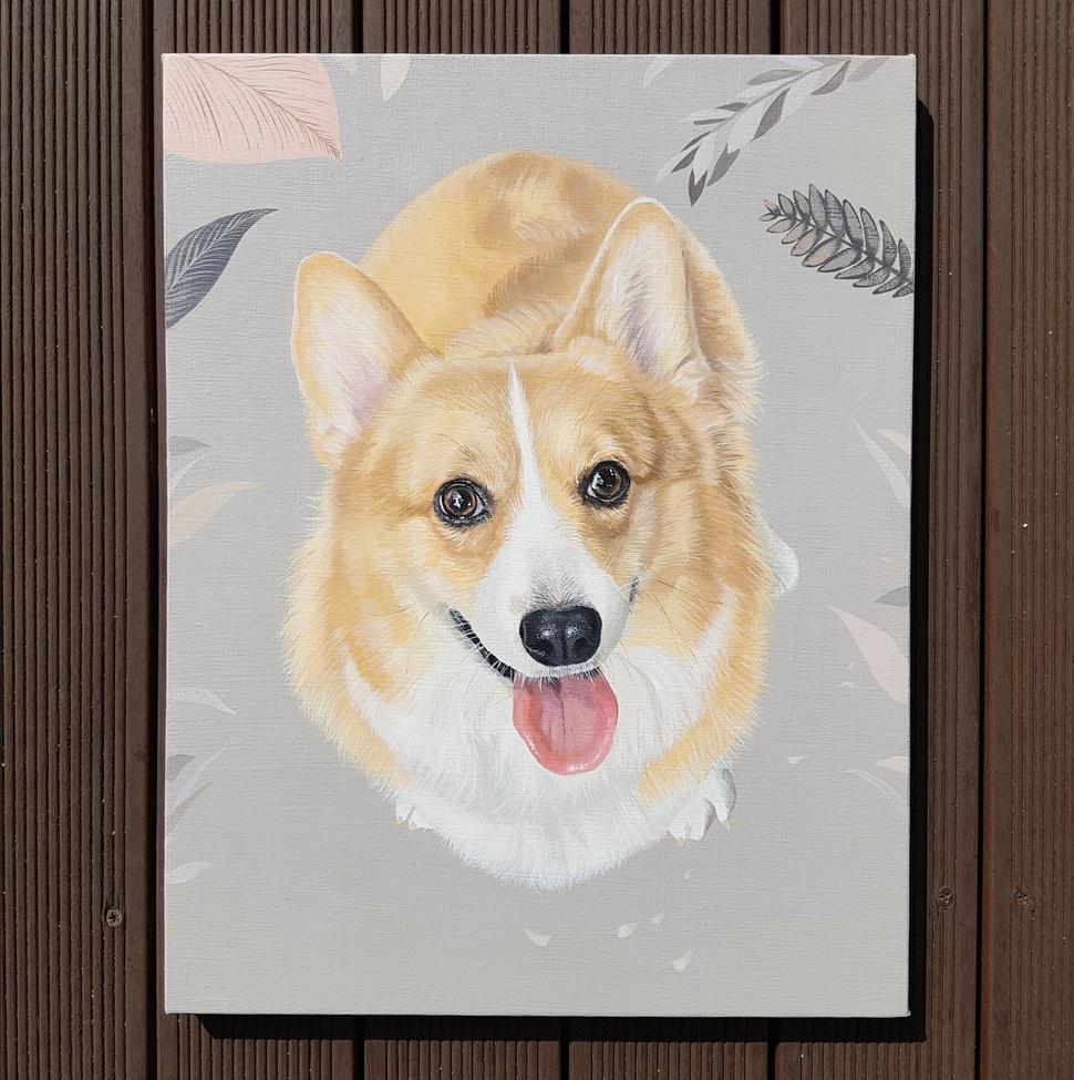 정지희씨가 그린 달래의 초상화.