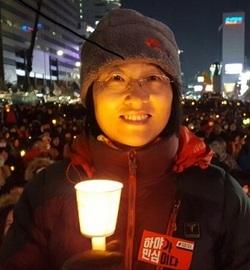서울 관악구에서 서울시의원 선거 출마를 준비하고 있는 유정희씨.