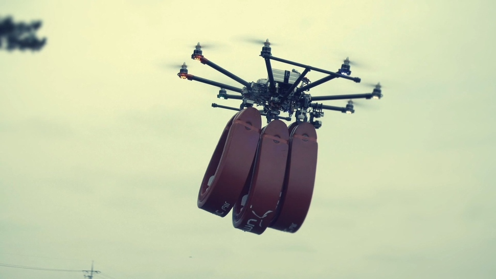 Photo] Drone emergency delivery system under development : National ...