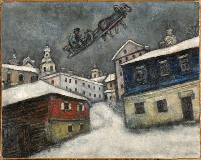 고향 정경을 담은 '러시아 마을'(1929)