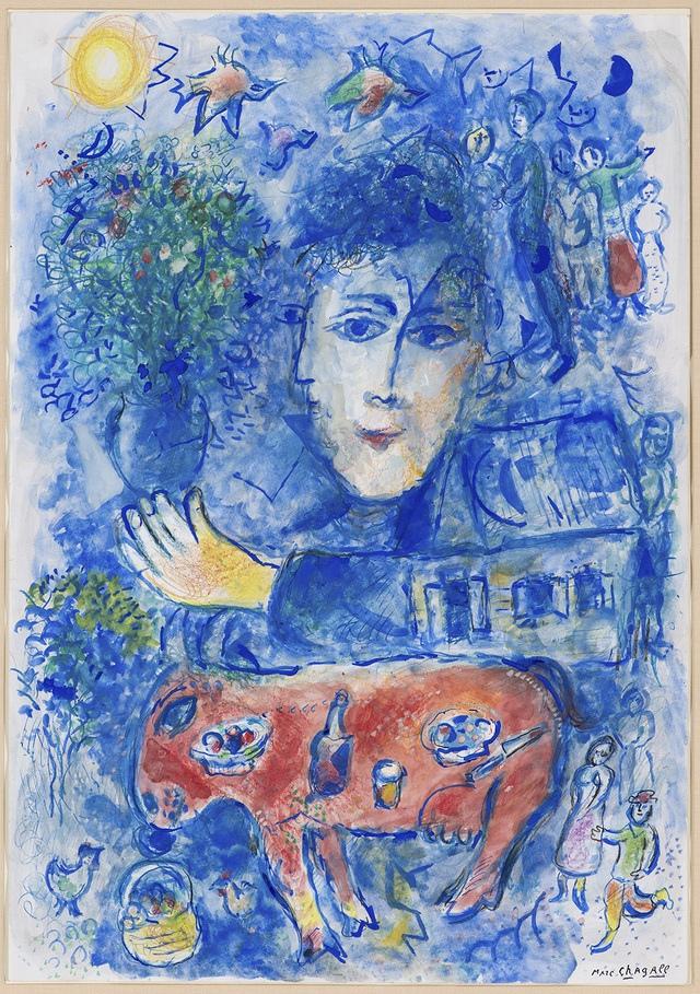 '두개의 파란 이중초상과 빨간 당나귀'(1980)