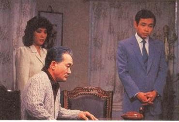 <야망의 25시>의 극을 이끌어간 주인공은 사채업자 김유장(박규채·가운데), 부인(엄유신·왼쪽)과 유학파 둘째아들 수민(길용우·오른쪽)이었다. '김유장'의 실존 모델이 누구인지도 화제거리였다.