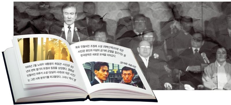 1988년 2월 노태우 대통령의 취임은 80년대 변혁운동의 좌절과 침잠을 상징했다. 90년대 문학은 그로 인한 상실감과 환멸에서부터 출발했다. 연합뉴스