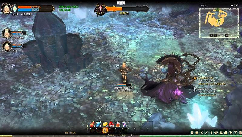 게임 '트리오브세이비어'의 한 장면.
