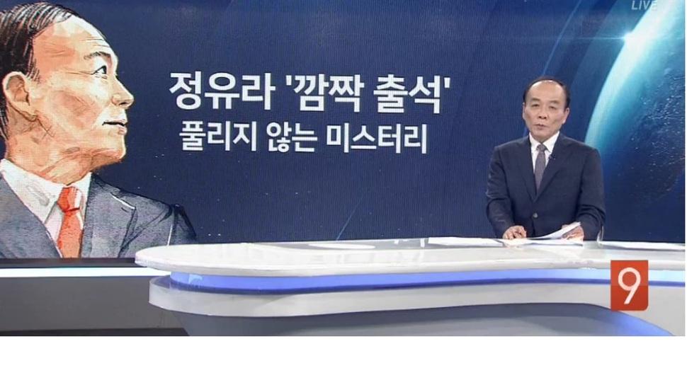 전원책 변호사는 '보수의 아이콘'으로 불려왔으며 2017년 TV조선에서 '종합뉴스 9' 진행을 맡기도 했다. TV조선 화면 갈무리.
