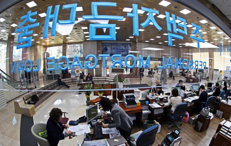 국민은행 대출창구 모습. 이정용 선임기자 lee312@hani.co.kr