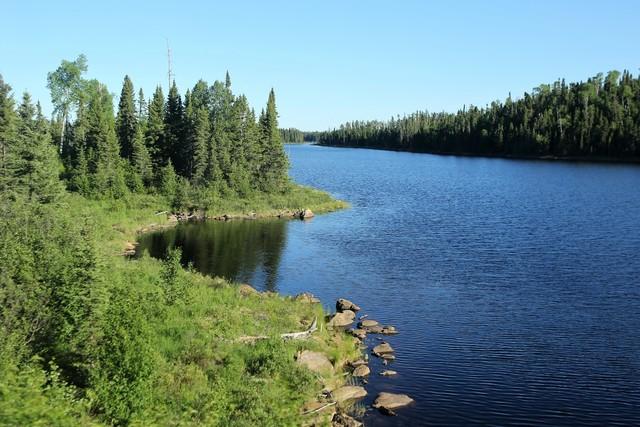 횡단열차 차창 밖으로 울창한 숲과 호수들이 끝없이 나타난다.  이병학 선임기자