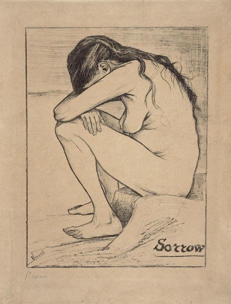 자신이 결혼하고자 했던 여자 시엔을 그린 반 고흐의 작품 〈슬픔〉. 반 고흐 미술관 제공