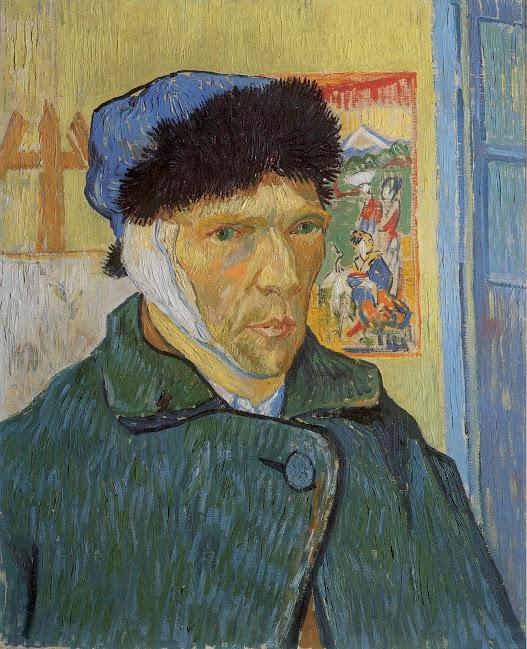 1889년 빈센트는 귀에 붕대를 감은 모습의 자화상을 2점 남겼다. 반 고흐 미술관 제공