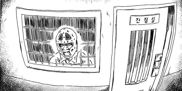 김수혁씨는 20대에는 정신병원을 전전했고 30대 이후부터는 구치소를 들락날락하는 삶을 살고 있다. 일러스트 김보통