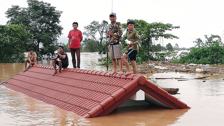 photo sk engineering and construction discovered damage to laos dam