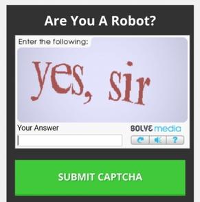 캡차(CAPTCHA)는 '컴퓨터와 사람을 식별하는 완전 자동화한 튜링테스트'의 영문약자로, 이용자가 로봇이 아님을 입증하게 만드는 장치다.