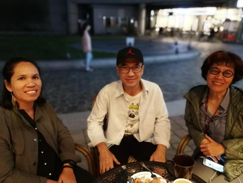 한국을 찾은 타이 시민단체 활동가들. 왼쪽부터 국제 시민단체 '인터네셔널 리버스(International Rivers)'의 파이린린 소사이, '미넷(MEE NET·Mekong Energy and Ecology Network)'의 위툰 펌퐁사차로엥,  '라오스댐개투자개발모니터단(LDIM·South-Eeat Asia/Laos Dam Investment Monitor'의 쁘렘루디 다오롱.