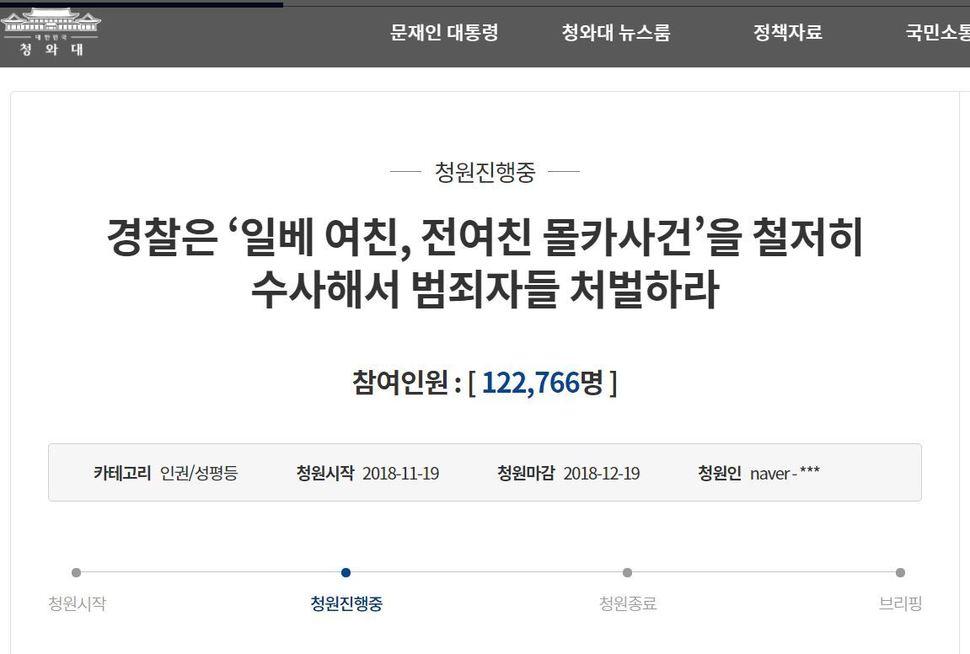 Cheong Wa Dae National People's Petition.