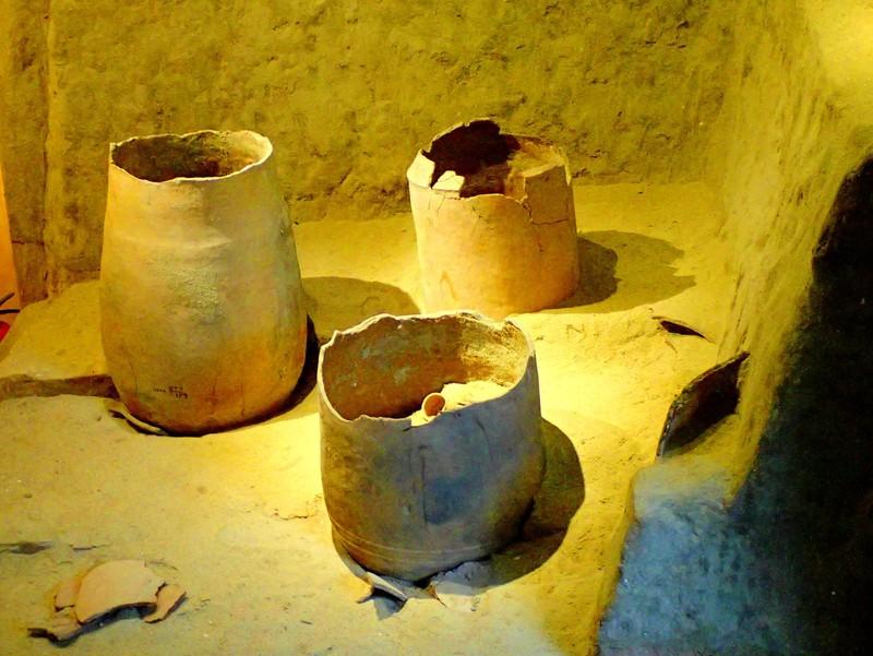 옹관에 시신을 매장하는 문화는 고대 베트남 중부지역과 중국 남부, 한반도 서남부, 일본 규슈지역에 퍼져 있었다. 중국과 베트남은 옹관을 세워서 사용했다. 사진은 참족의 유적에서 나온 옹관을 호이안의 사후인문화박물관에 전시하고 있는 모습. 권오영 교수
