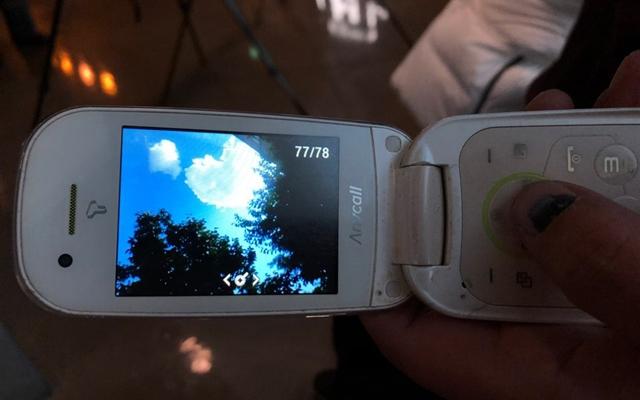 2018년 12월17일과 23일에 만난 별이씨의 휴대전화 속 화면. 휴대전화에 하트 모양의 구름 사진이 있었다.