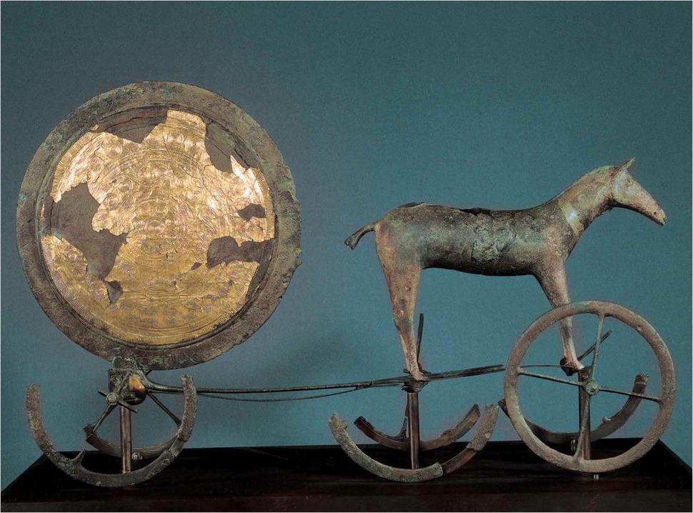 3800년 전 덴마크에서 발견된 태양의 전차. 강인욱 제공