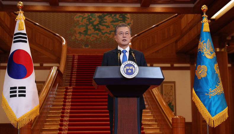 Moon expresses hopes that 2nd NK-US summit will occur soon