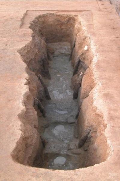 전북 익산시 왕궁리에서 발견된 백제시대 왕궁의 대형 화장실. 권오영 교수 제공