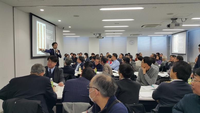 지난 19일 일본 도쿄 와세다대에서 열린 한일 목간학회 공동주최 워크숍 현장. 일본쪽 연구자인 바바 하지메 나라문화재연구소 사료연구실장이 한-일 목간의 비교연구 성과에 대해 발표하고 있다.