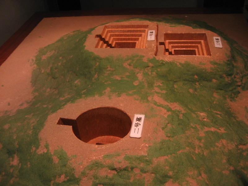 중국 후난성 창사 마왕퇴에서 발견된 기원전 2~1세기의 한나라 무덤. 지역관리인 리창과 그의 부인 신추, 아들이 각각 묻힌 이 무덤은 시신 등 부장품이 완벽한 상태로 발굴됐다. 권오영 교수 제공