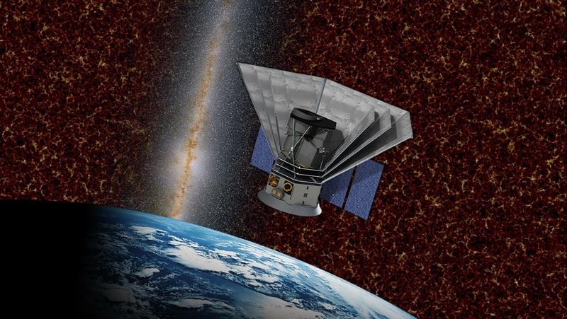 미국 항공우주국(NASA) 중형 미션으로 선정된 전천 적외선 영상·분광기 '스피어엑스'(SPHEREx) 상상도. 한국천문우주연구원 제공