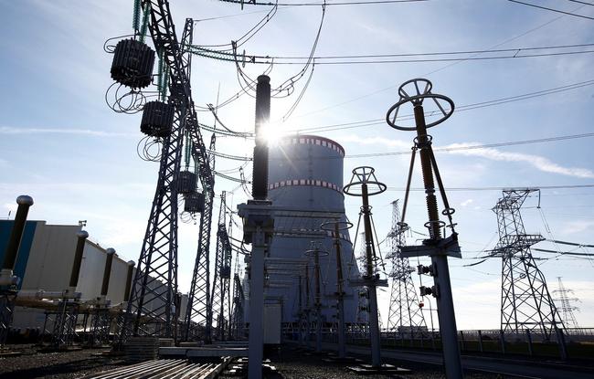 벨로루시에서 처음으로 짓고 있는 오스트로벳 지역 원자력발전소 공사 현장. REUTERS