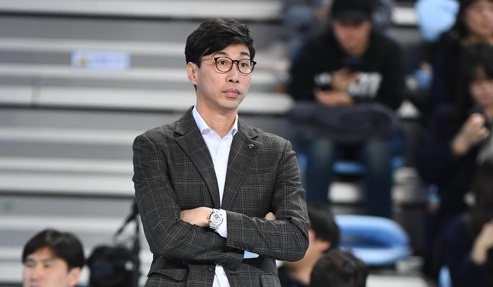 김세진 감독.  한국배구연맹 제공.