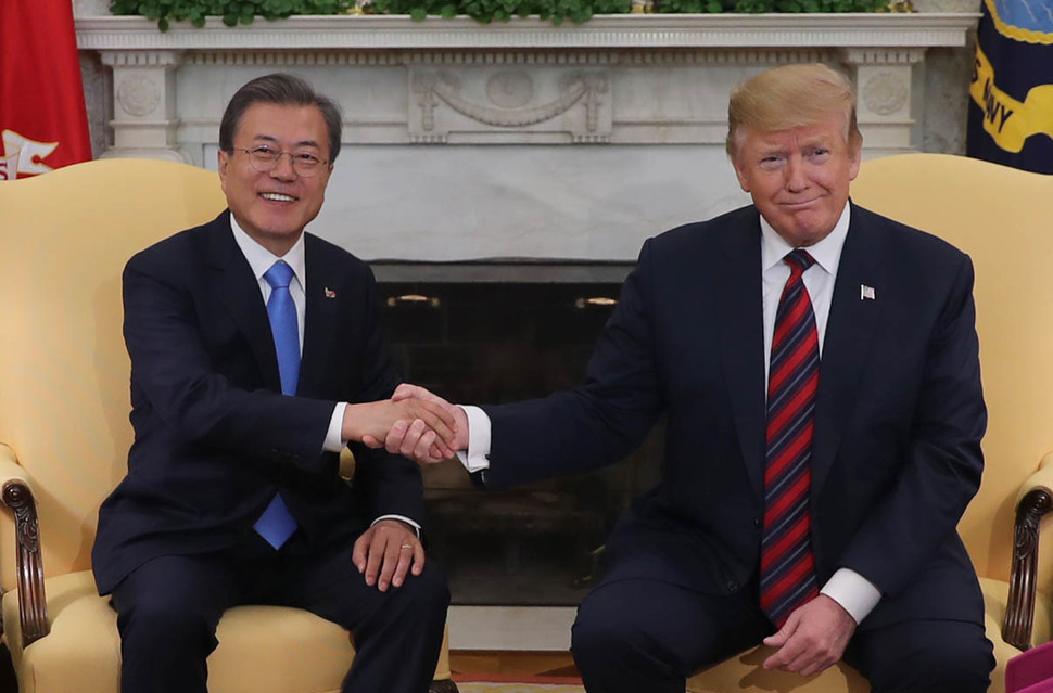 Moon emphasizes importance of inter-Korean relations in summit with Trump