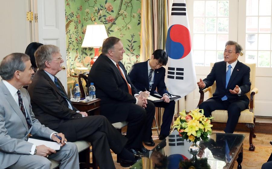 Moon emphasizes maintaining momentum of dialogue with NK during Washington summit