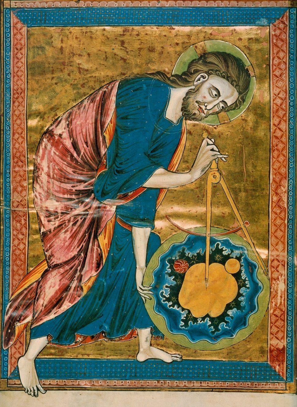 그림2. 오스트리아 국립도서관이 소장한 13세기 성서의 표지 삽화.