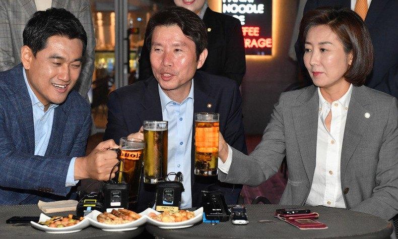"""3당 원내대표 '맥주 회동'…""""결론 내기 역부족"""""""