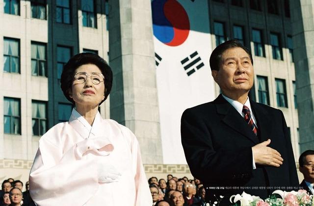 1998년 2월 대통령 취임식 때 김대중 전 대통령과 이희호 여사. 김대중평화센터 제공