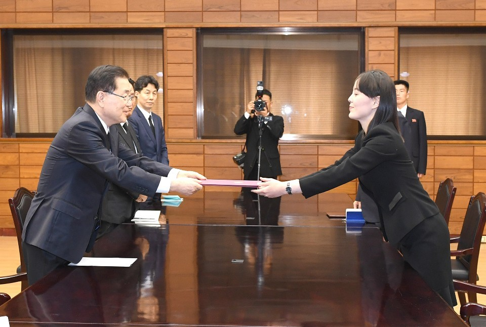 Kim Yo-jong's delivery of condolence wreath and message make front page of Rodong Sinmun