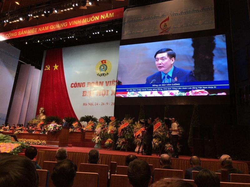 베트남에서 노동조합은 베트남노동총연맹(VGCL)이 유일하다. 이 조직을 이끄는 브이반끄엉(55)은 베트남 공산당 중앙집행위원이자 재선 국회의원이었다. / 사진 세계노동조합연맹 홈페이지