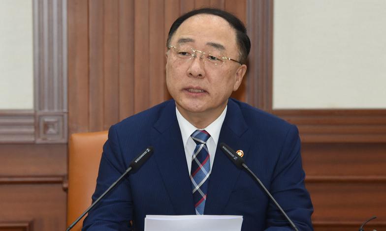 """홍남기 """"일본은 자유무역 최대 수혜자, 수출 통제 풀어야"""""""