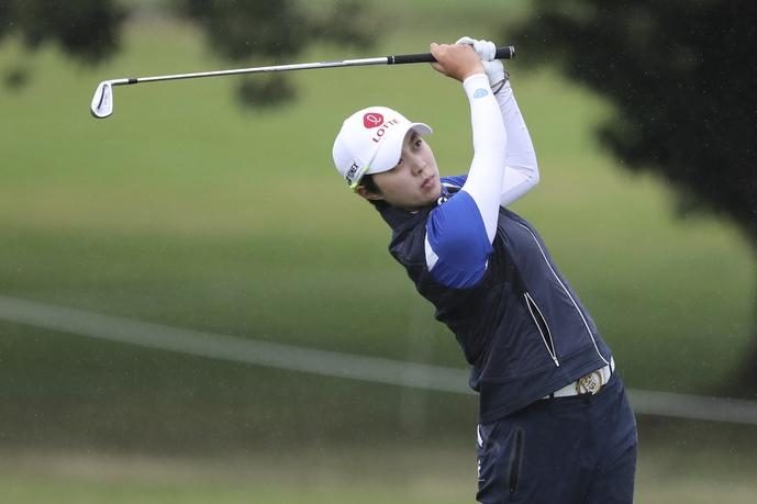 김효주가 에비앙 챔피언십 4라운드에서 샷을 하고 있다. 에비앙/AP 연합뉴스