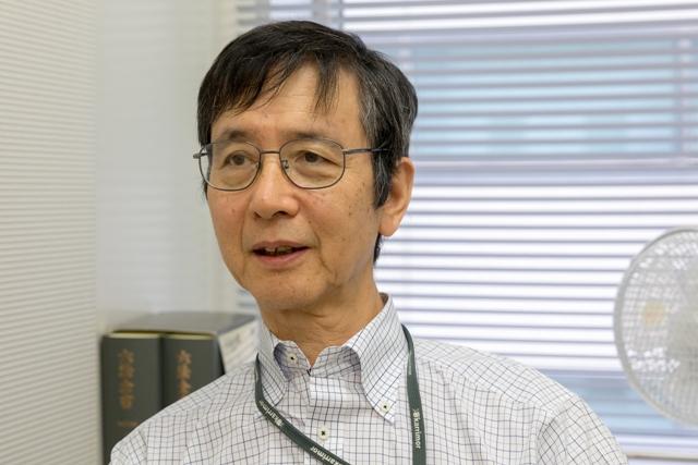 우키시마호 소송을 대리한 야마모토 세이타 변호사가 8월7일 과거 재판 과정을 설명하고 있다.