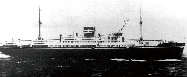 1945년 8월24일 마이즈루항 앞바다에서 침몰당하기 전의 우키시마호 전경. 연합뉴스
