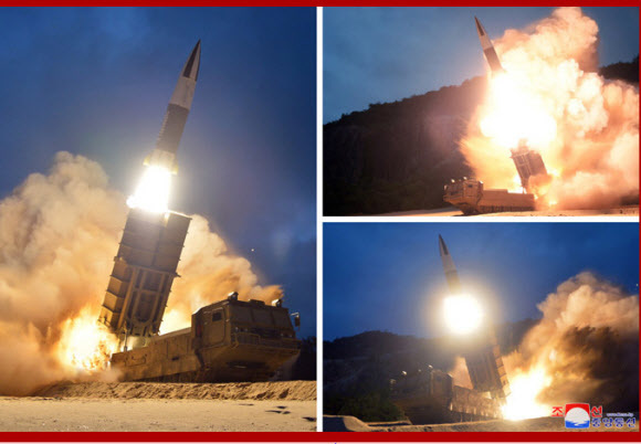[Photo] N. Korea launches two projectiles from Tongchon, Kangwon Province