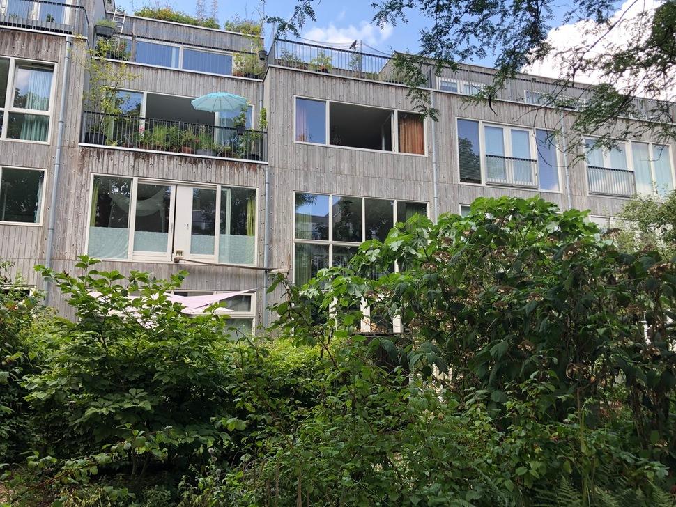 네덜란드 로테르담의 '로테르담 169 클뤼스하위전' 주택 전경. 2004년 로테르담시는 단돈 1유로에 주택을 시민들에게 매매해 입주자들이 직접 리모델링을 설계하고 비용까지 부담하게 하는 도시재생 프로젝트를 진행했다.