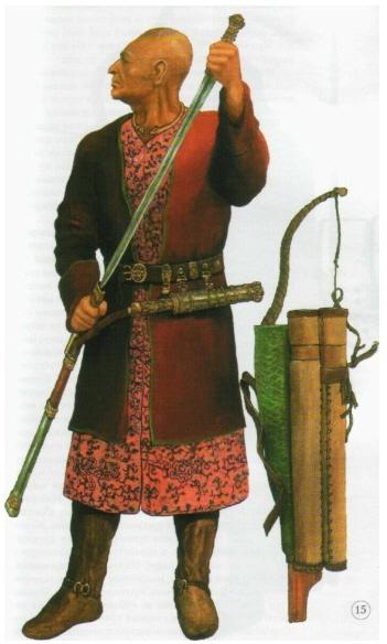 솔로비요프가 복원한 알타이의 서기 5세기 무덤에서 발견된 훈족 족장.  강인욱 제공