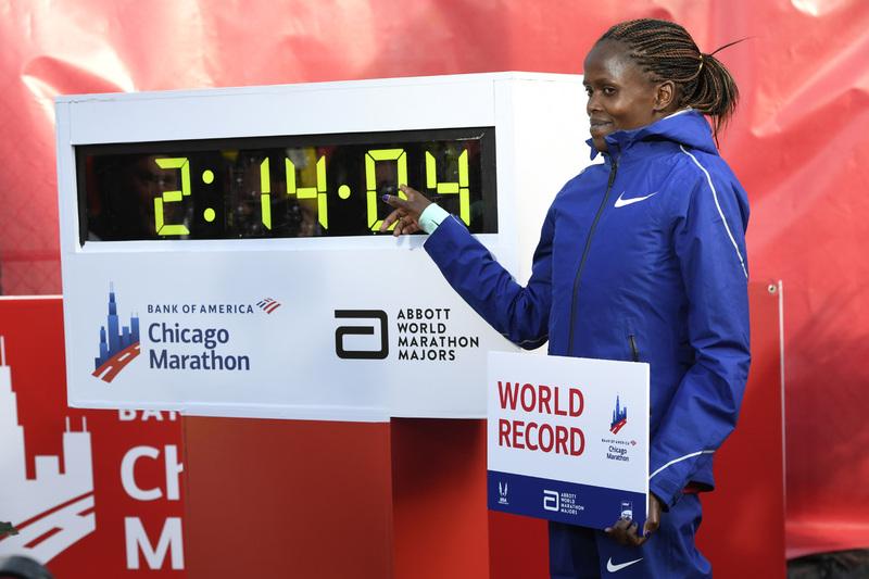 코스게이, 여자마라톤 세계신기록…2시간14분04초