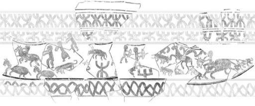 경주 쪽샘 신라무덤서 1500여년 전 행렬도 새긴 항아리 출토