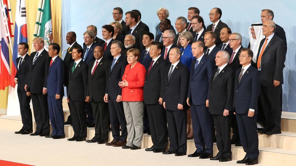 2017년 7월 독일 함부르크 주요 20개국(G20) 정상회의에 모인 각국 정상들이 '금융 포용성'을 강조하는 공동선언문을 채택했다. 연합뉴스